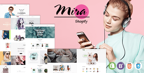 Mira - Responsive Sectioned Shopify Theme for Fashion, Cosmetic, Plant, Pottery and Pet Store            TFx Brooks Ferdy