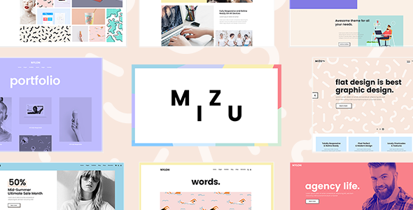Mizu – A Theme for Designers, Agencies, and Creative Studios            TFx Cole Kenny