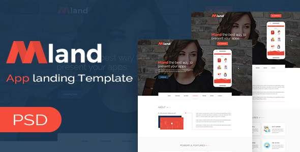 Mland - Apps Landing PSD Template - Marketing Corporate TFx Innocent Alex