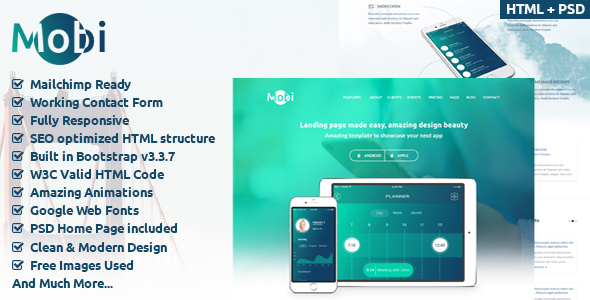 MobiApp OnePage HTML Template            TFx Laverne Grenville