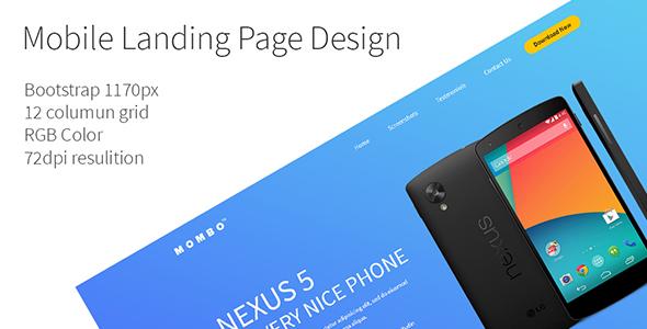 Mobile App Landingpage Template PSD            TFx Derren Lambert