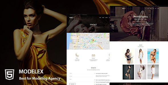 Modelex a Model Agency HTML Template            TFx Happy Codie