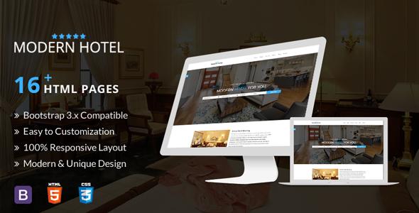 Modern Hotel, Responsive Html5 Template - Travel Retail TFx Lovel Bryon