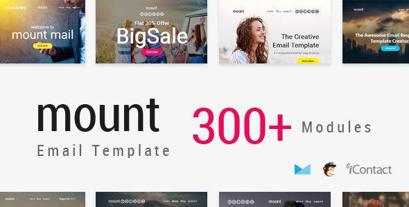 Mount Mail 300+ Modules - Responsive E-mail Template - Email Templates Marketing TFx Kemp Travers