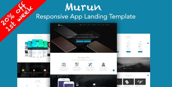 Murun - Responsive App Landing Page Template - Apps Technology TFx Dudley Shem