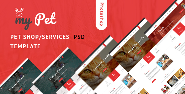 MyPet – Pet Shop & Veterinary PSD Template            TFx Durward Arn