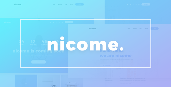 Nicome - Creative Multipurpose PSD Template - Creative PSD Templates TFx Stanley Manley