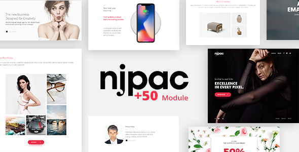Njpac - Responsive Email Template Minimal - Email Templates Marketing TFx Lennie Ladislaus