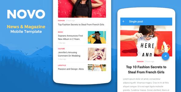 Novo - News & Magazine Mobile Template            TFx Osamu Glenn