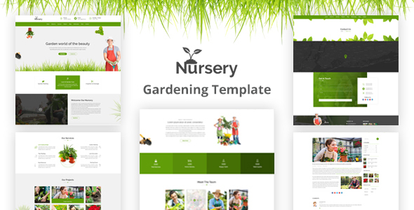 Nursery - Gardening and Landscaping HTML Template            TFx Emil Brody