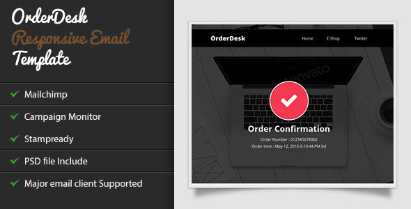 OrderDesk - Responsive Email Template with Stampready Builder            TFx Chauncey Jerald