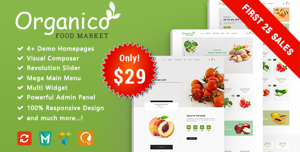 Organico – Fresh Fruits Responsive WooCommerce WordPress Theme            TFx Ormond Dana