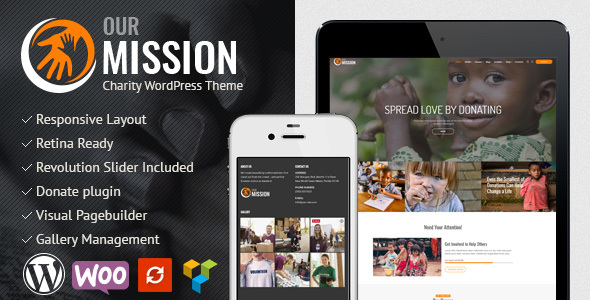 Our Mission - Charity WordPress Theme            TFx Hagop Sandy