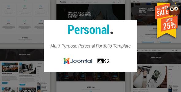 Personal - Responsive Multi-Purpose Personal Portfolio Joomla Template            TFx Kaden Armen