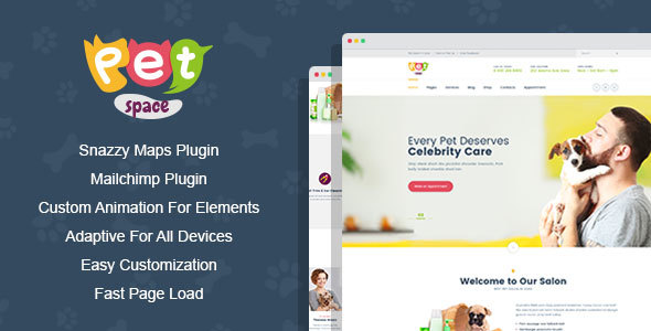 PetSpace - Animal Grooming WordPress Theme            TFx Hayk Hunter