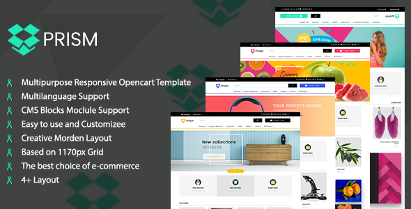 Prism Creative Multipurpose Ecommerce Opencart-3 Theme            TFx Vinnie Irving
