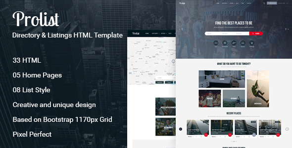 Prolist - Directory & Listings HTML Template            TFx Mo Aylmer