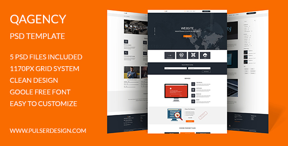 QAgency PSD Template            TFx Reginald Theo