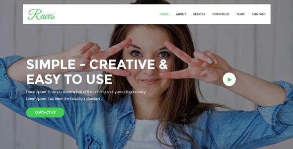 Raees - Creative Agency Template - Technology Site Templates TFx Blake Takashi