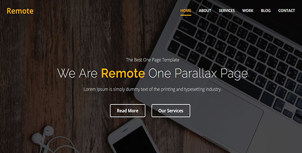 Remote – One Page Parallax            TFx Ralph Surya