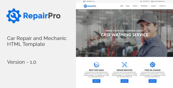 RepairPro - Car Repair and Mechanic HTML Template - Business Corporate TFx Lewin John