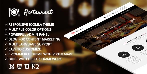 Restaurant – Responsive Joomla Template - Joomla CMS Themes TFx Kim Corwin