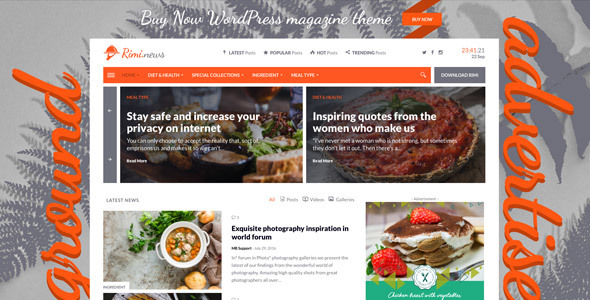 Rimi - WordPress Theme for Food Blog and Magazine            TFx Clay Harlan