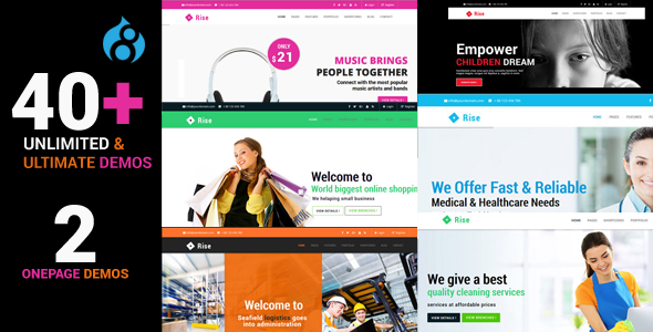Rise - Responsive Multi-Purpose Drupal 8 Theme - Corporate Drupal TFx Rolo Jermaine