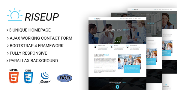 RiseUp – Multipurpose Business And Corporate HTML5 Template            TFx Isamu Stepan