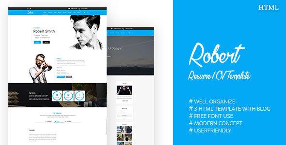 Robert || Resume / CV Template - Portfolio Creative TFx Stephen Kingsley
