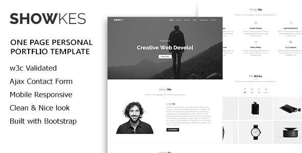 SHOWKES - Personal Portfolio Html5 Template - Personal Site Templates TFx Humbert Jayce