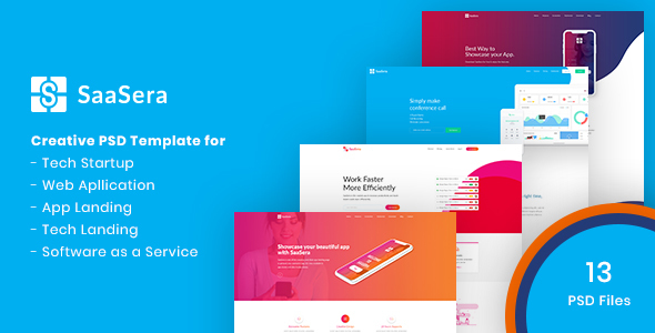 SaaSera - Startup/ Web Application/ Software as a Service PSD Template            TFx Neal Merlin