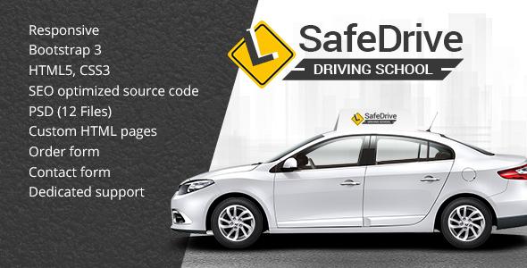 Safe Drive - Driving School HTML Website Template            TFx Meriwether Warrick