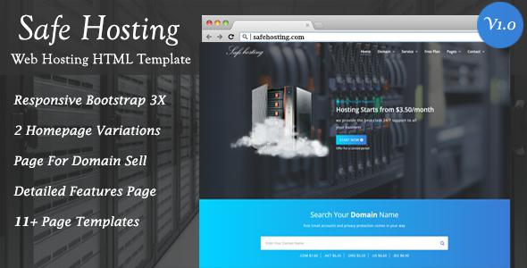 Safe Hosting HTML Template            TFx Ernest Bud