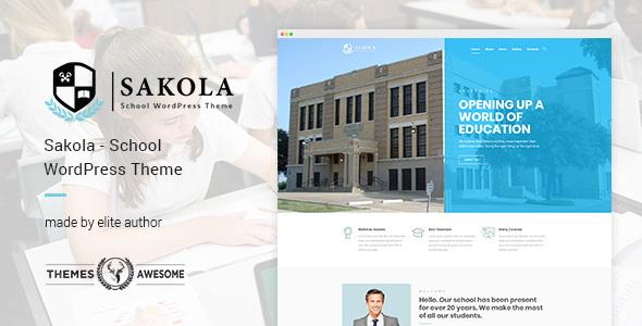 Sakola | School WordPress Theme            TFx Coty Kadek