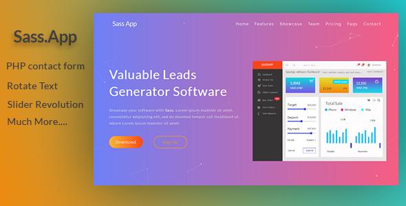 SassApp | Software & App Landing Page            TFx Michelangelo Normand