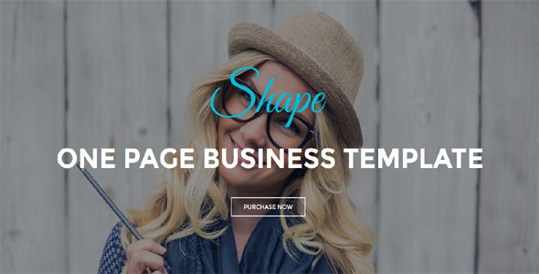 Shape - One Page Business Template            TFx Emory Hideki