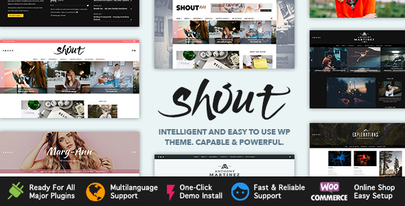Shout – Blogging WordPress Theme            TFx Kurt Lavern