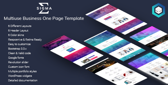 Sigma – Multiuse Business One Page Template            TFx Amias Daud