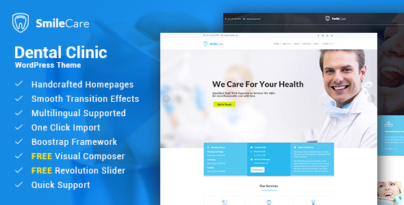 Smilecare - Medical & Dentist WordPress Theme            TFx Langdon Merton