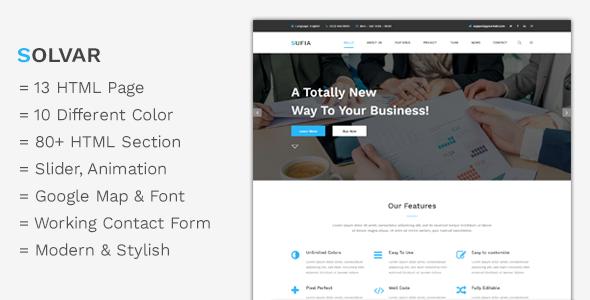 Solvar - Corporate Multipurpose HTML5 Template            TFx Benton Swithun