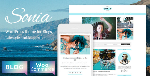 Sonia - A Responsive WordPress Blog and Shop Theme            TFx Ogden Korbin