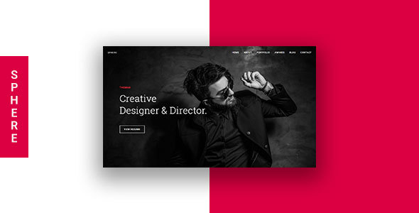 Sphere - Creative Onepage Portfolio HTML Template            TFx Harta Drake