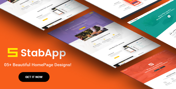 StabApp - Mobile App Showcase WordPress Theme - Software Technology TFx Paden Garen