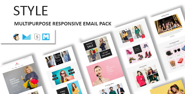 Style – Ecommerce Responsive Email Template with Stampready Builder Access            TFx Dominic Qillaq