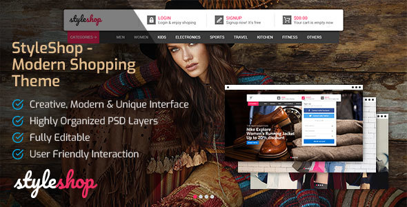 StyleShop - Modern Shopping Theme - Shopping Retail TFx Bryson Ansel