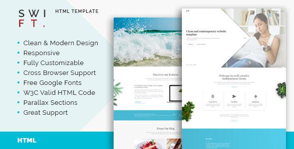Swift - Multipurpose HTML5 Template - Creative Site Templates TFx Gore Zander