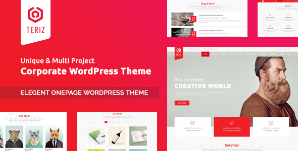 Teriz – Multipurpose Onepage WordPress Theme            TFx Vahagn Cade