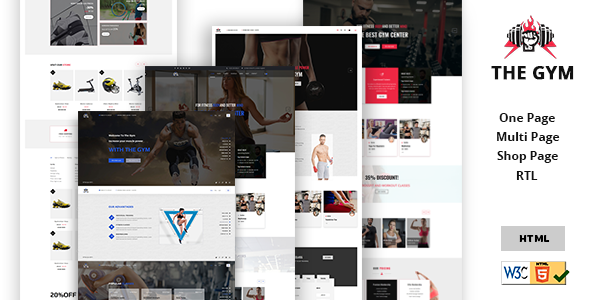 The Gym | Yoga, Gym, Fitness, Personal Gym Trainer & gym Shop Multipurpose HTML5 Template. - Health & Beauty Retail TFx Darell Stacy