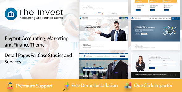 The Invest - Professional Services and Finance WordPress Theme - Business Corporate TFx Alf Issac